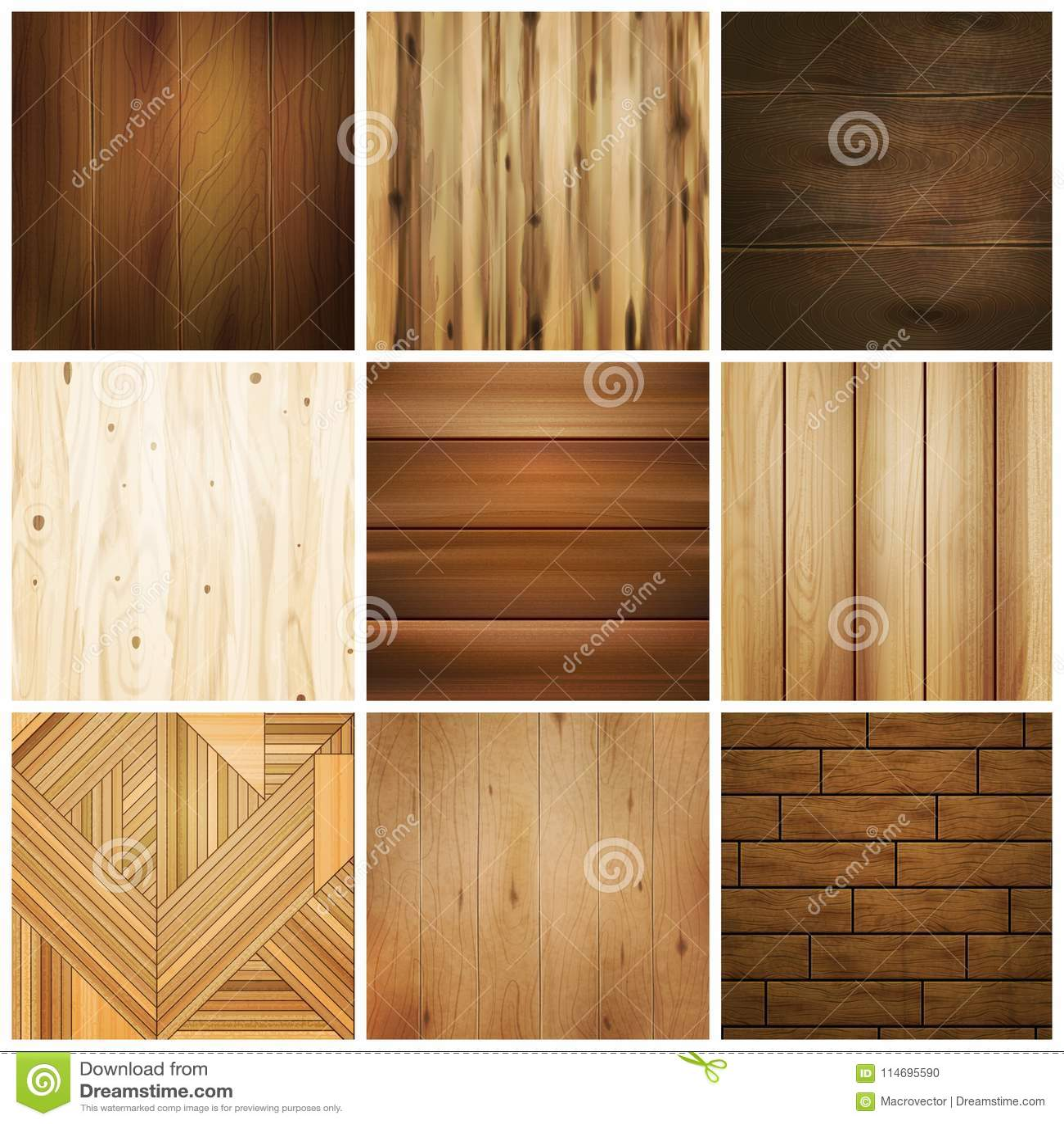 Wooden Floor Tile Set stock vector. Illustration of brown   20