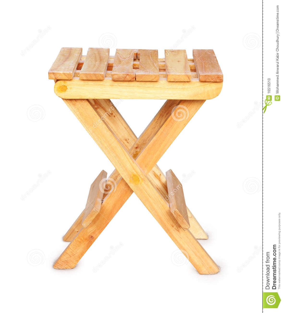 Wooden Folding Stool Stock Photo Image 16516510