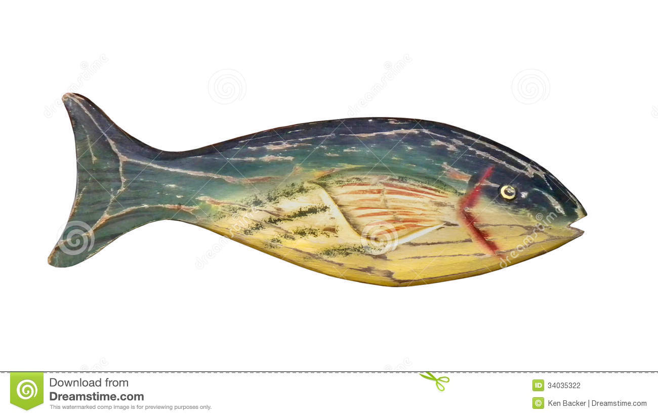 Painting Wood Carved Fish