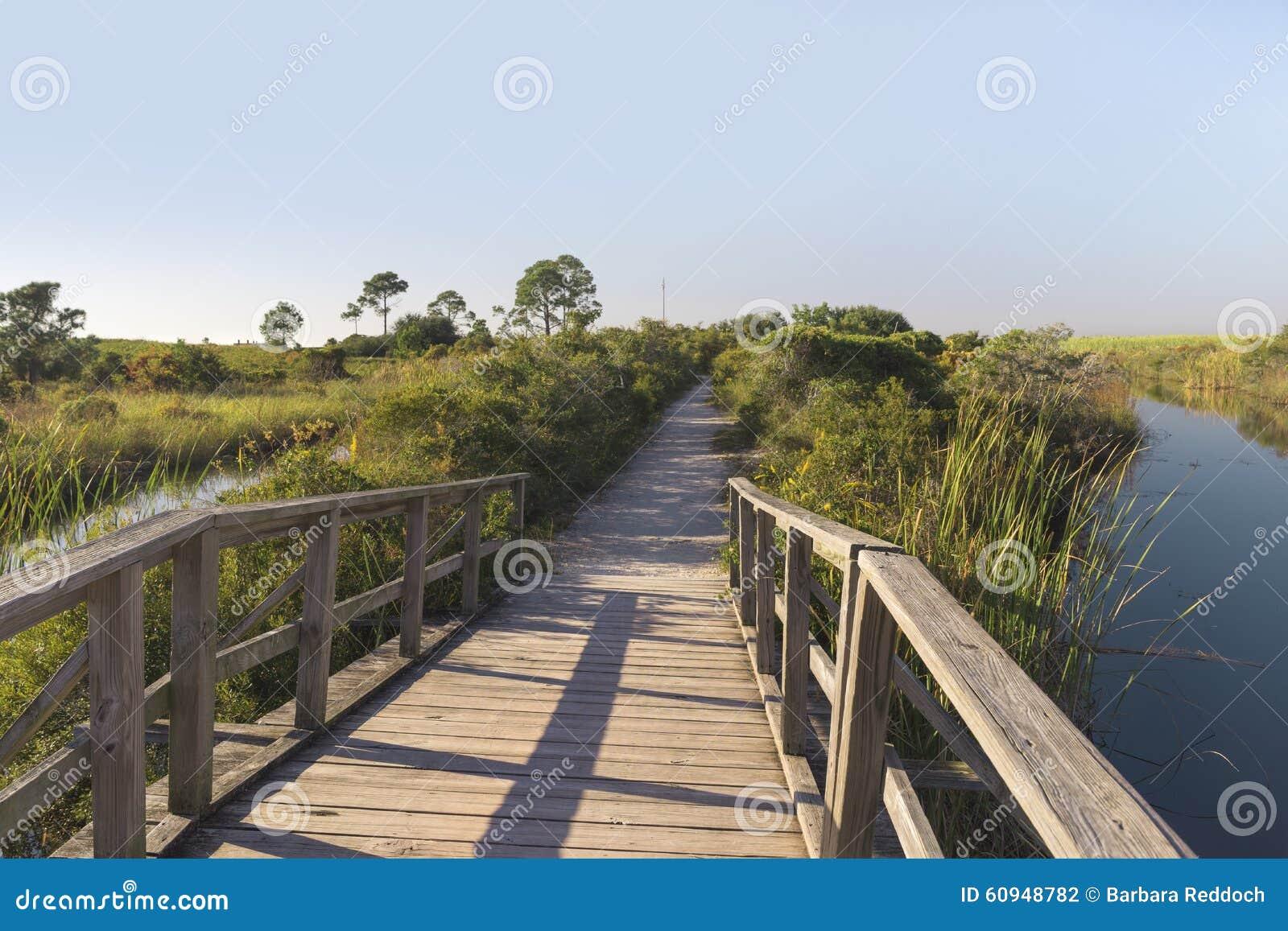 Wooden Footbridge Path at Fort Pickens