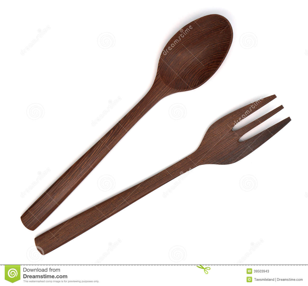 Wooden fork spoon