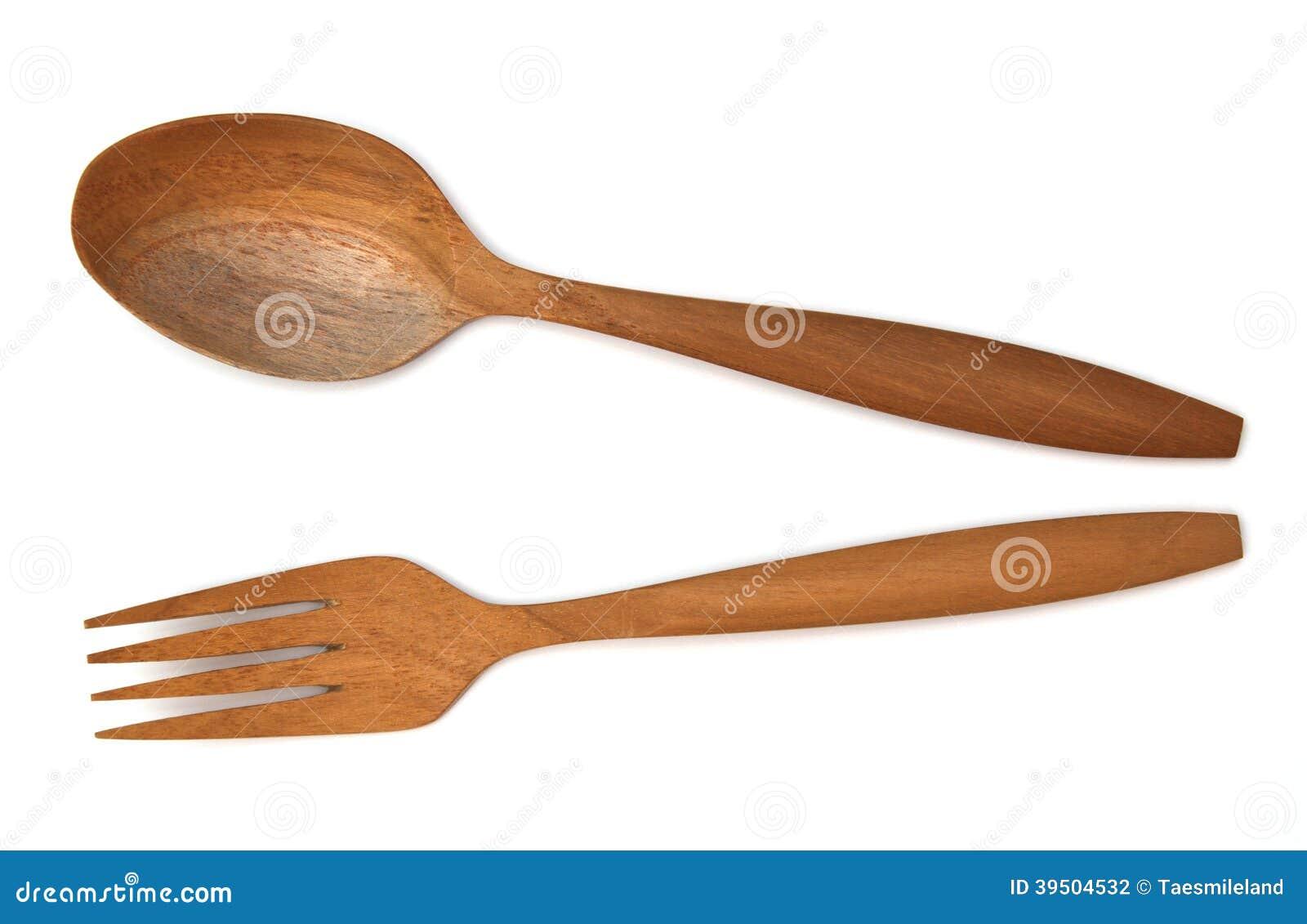 Wooden fork spoon