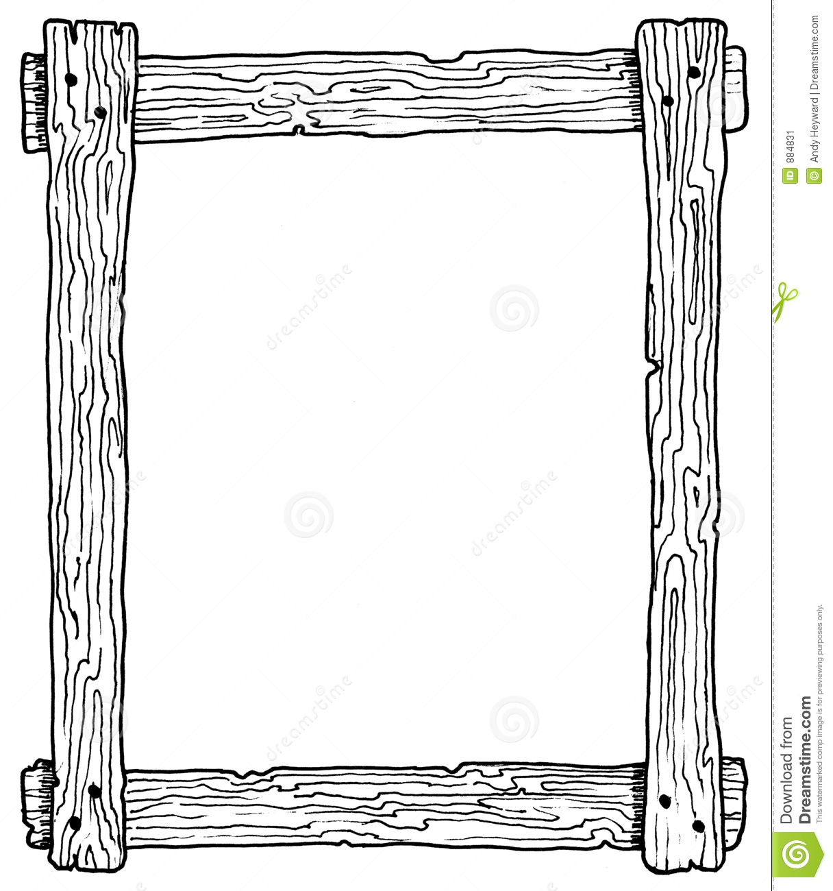 Wooden Frame stock illustration. Illustration of wood ...