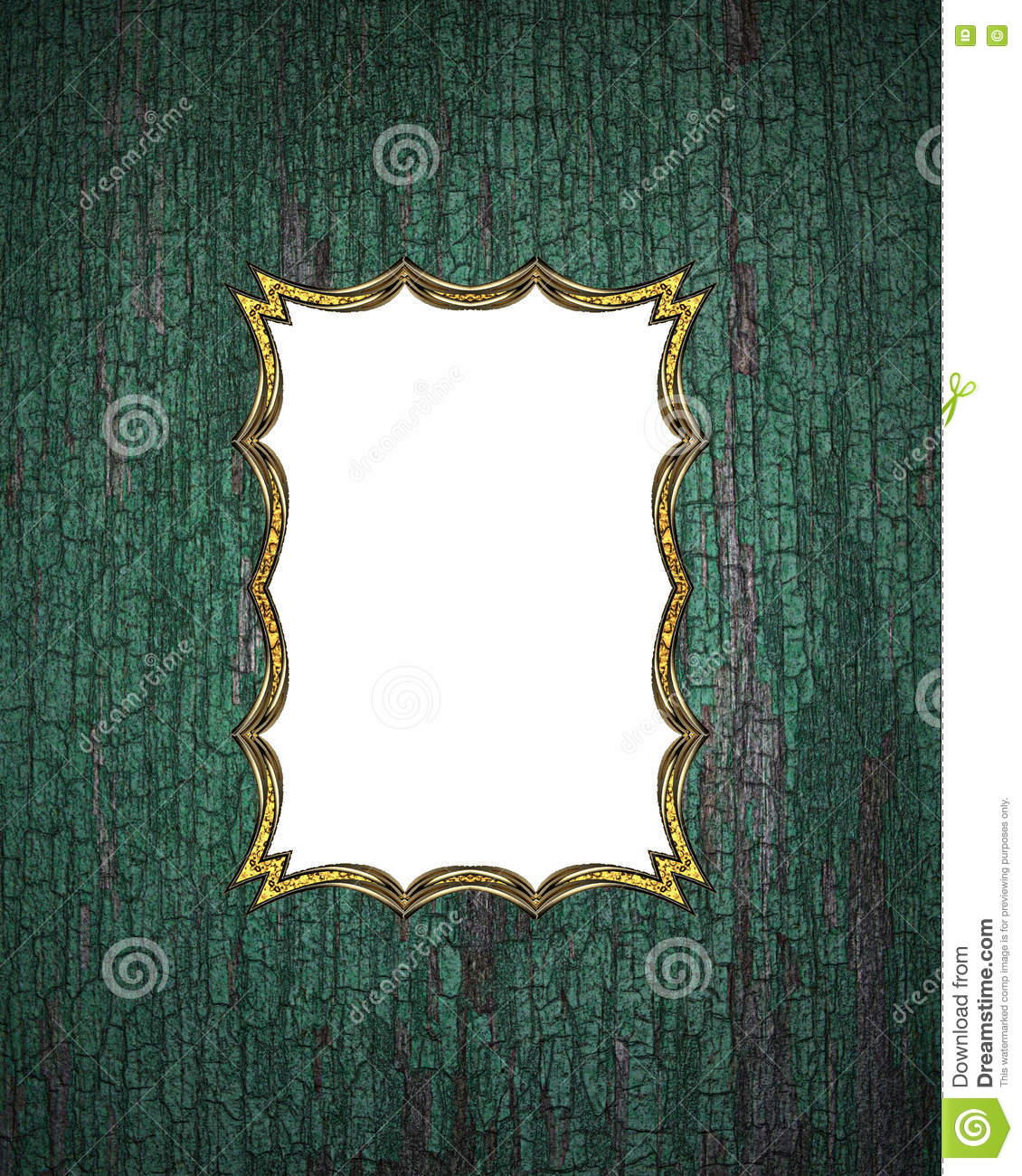 Wooden frame with gold border template for design copy for Copy design