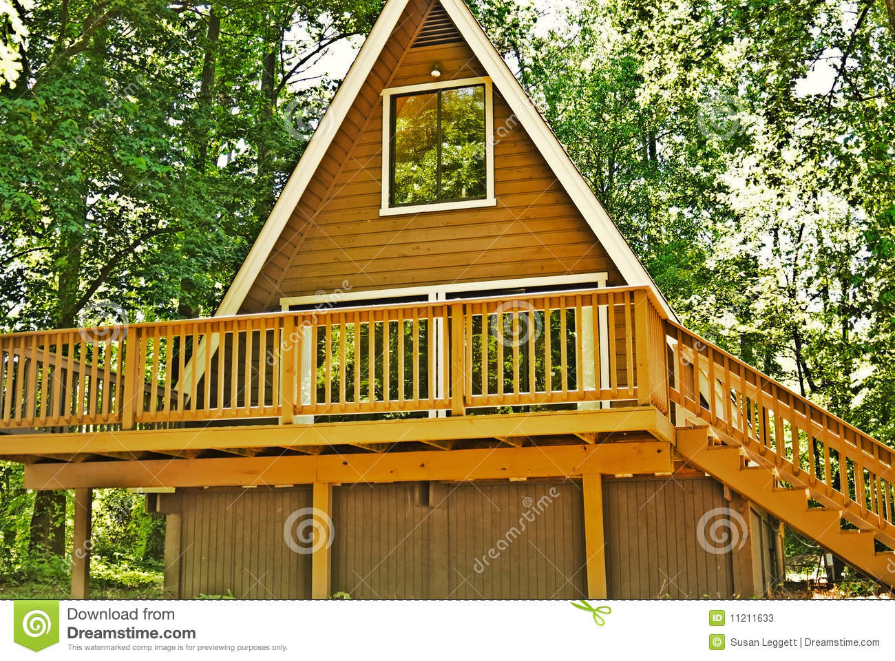 Wooden a frame house deck stock image image of glass for What is an a frame house