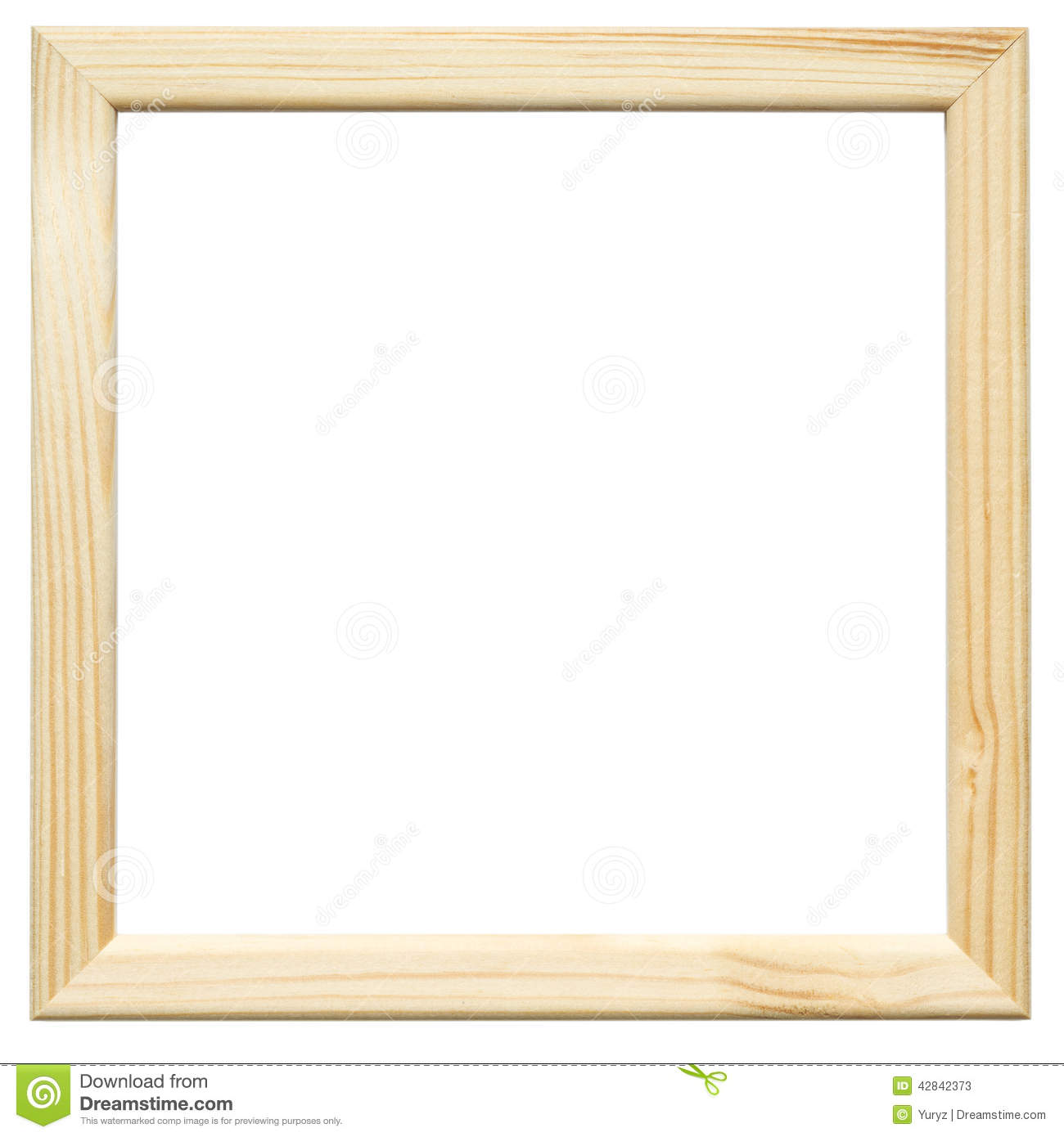 Wooden frame stock image. Image of sample, picture, simple ...