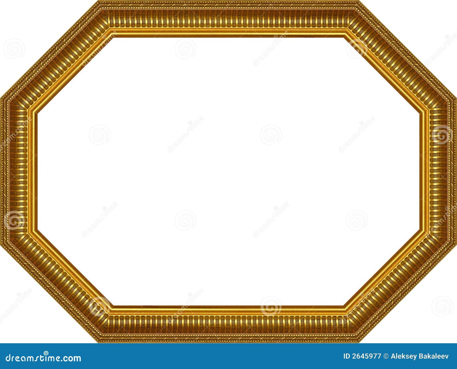 Wooden frame,octagon stock image. Image of frame, baroque - 2645977