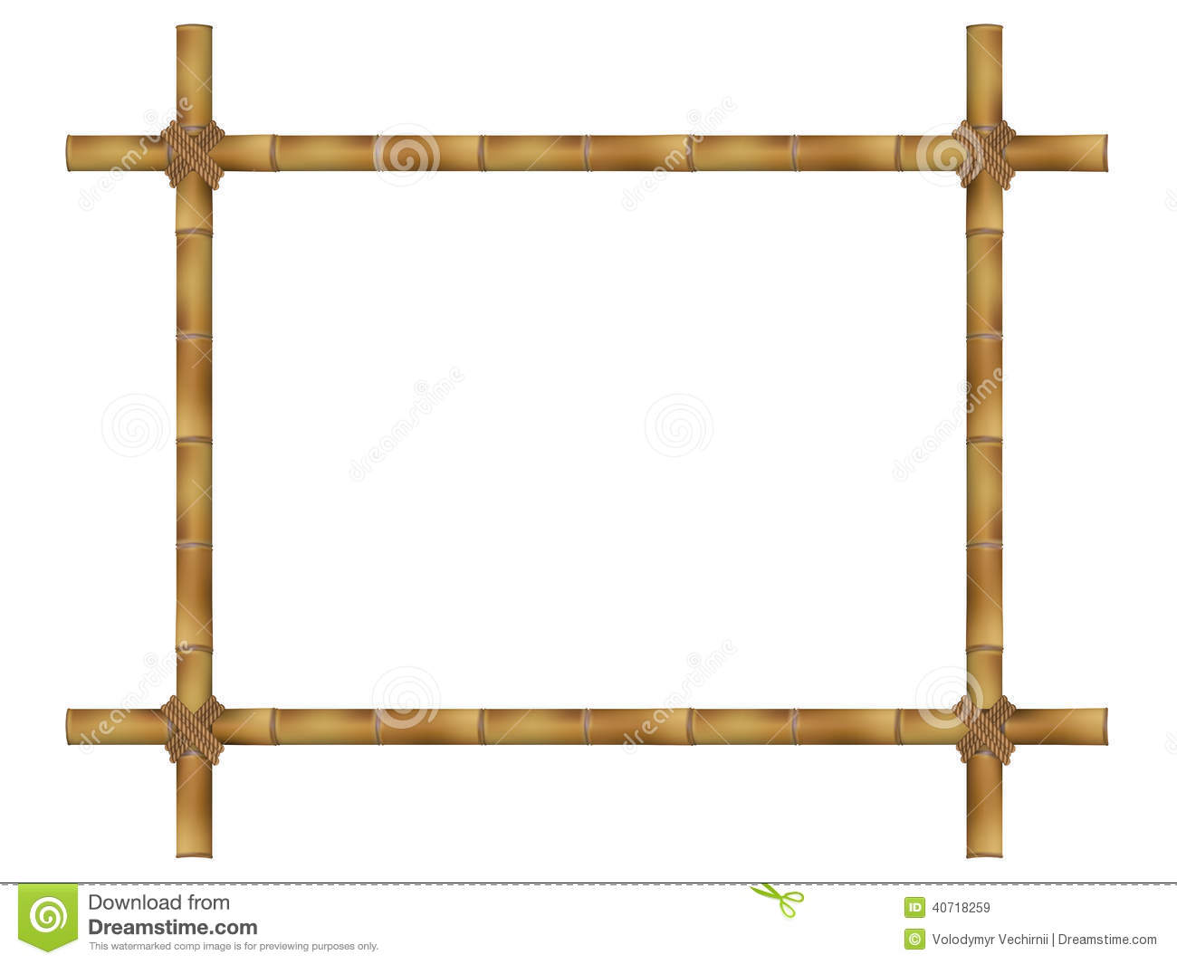 a2e1491c5396 Wooden Frame Of Old Bamboo Sticks. Stock Vector - Illustration of ...