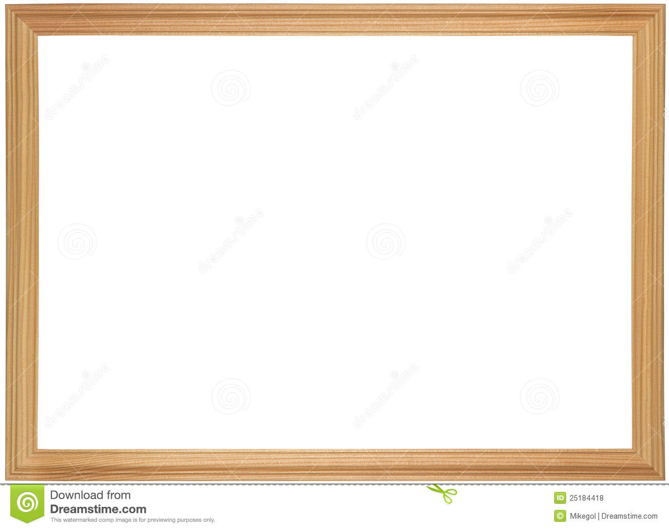 Wooden frame for painting stock photo. Image of border - 25184418