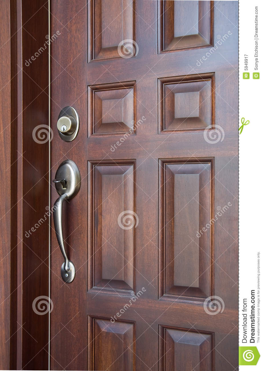 Wooden Front Door Royalty Free Stock Photography Image