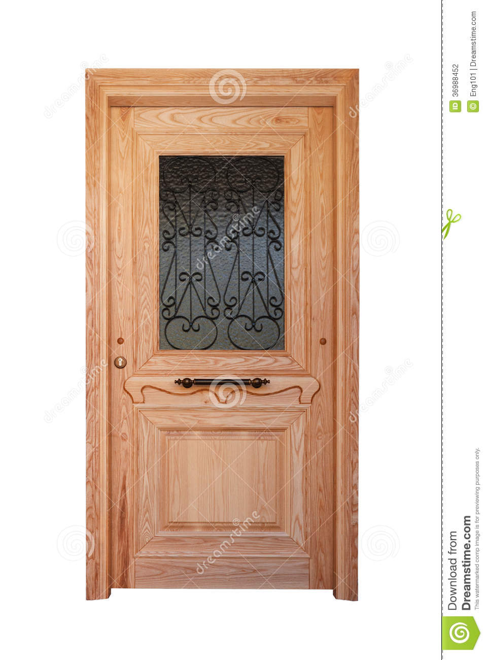 Wooden Front Door With Glazing Stock Photo Image 36988452