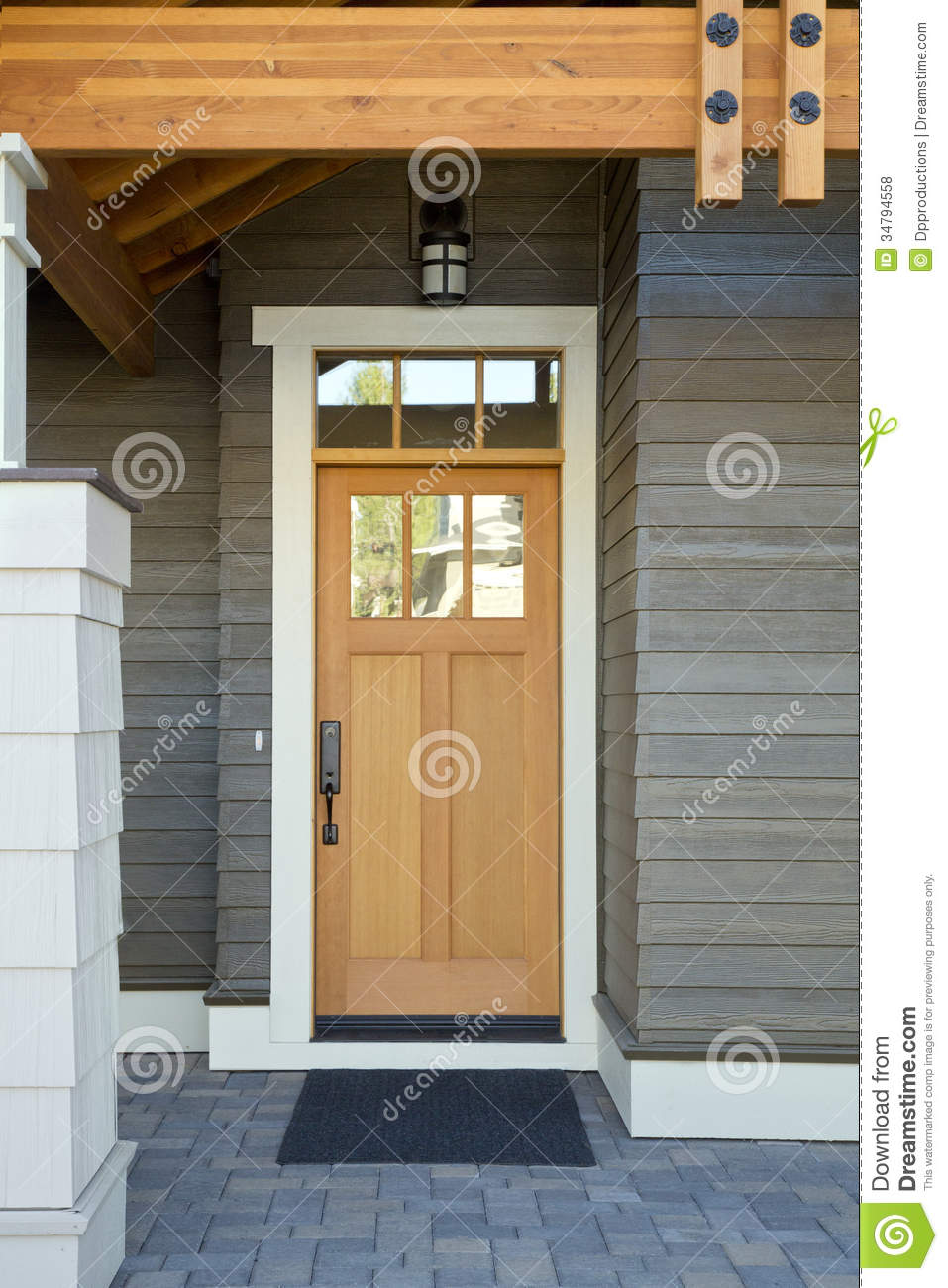 Wooden Front Door Of A Home Royalty Free Stock Photos Image