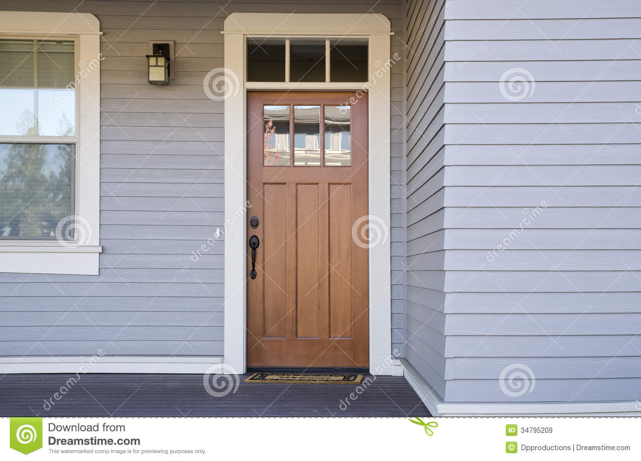 Wooden front door of a home stock image image of front for Door models for house