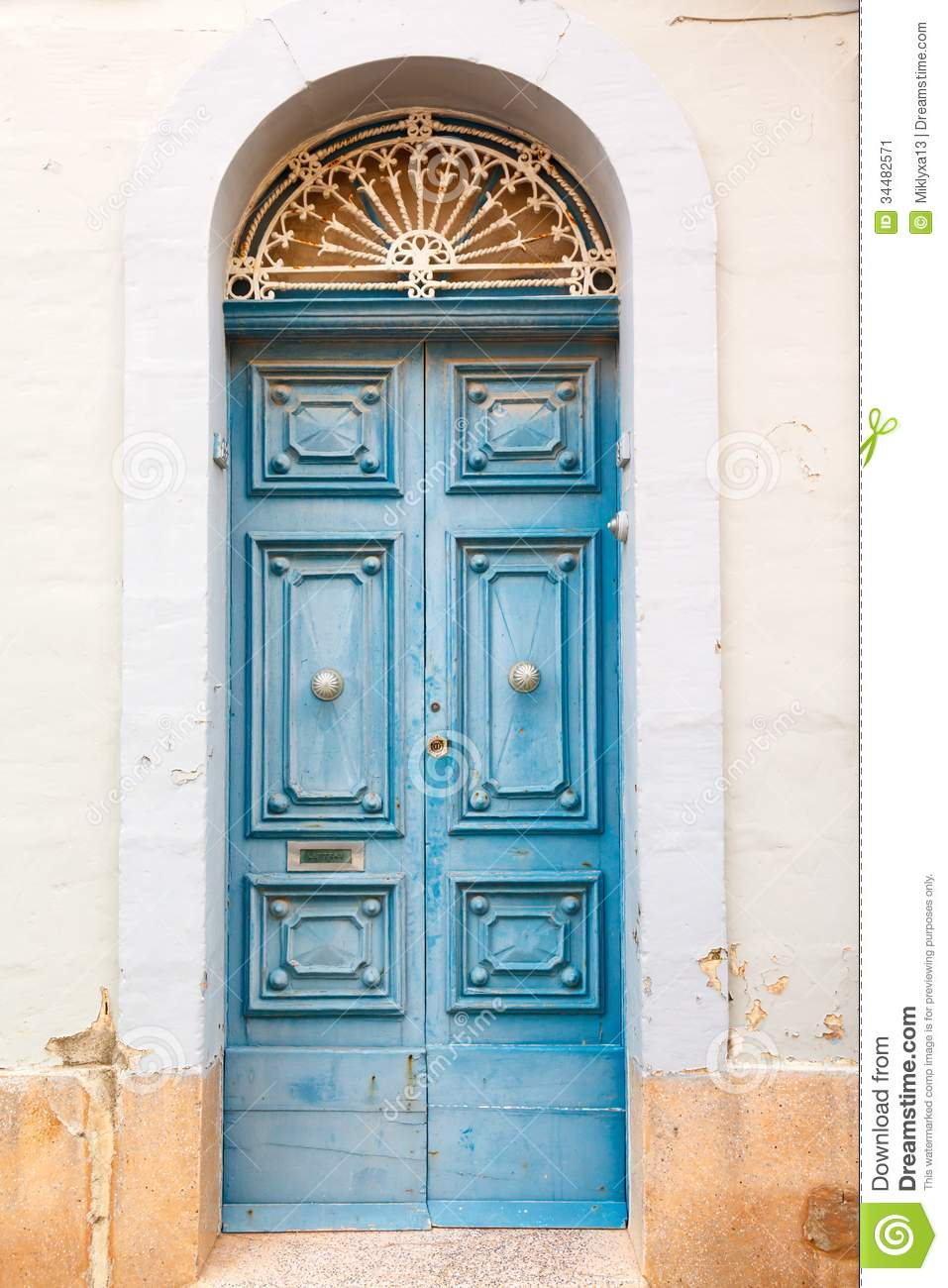 Wooden Front Door To The House Stock Image - Image: 34482571