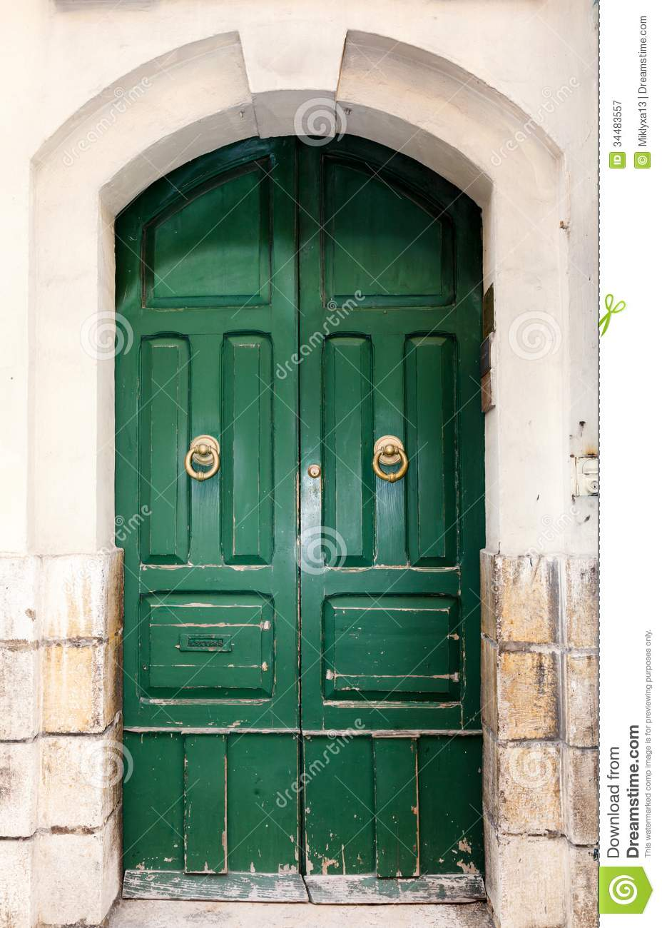 Wooden Front Door To The House Royalty Free Stock