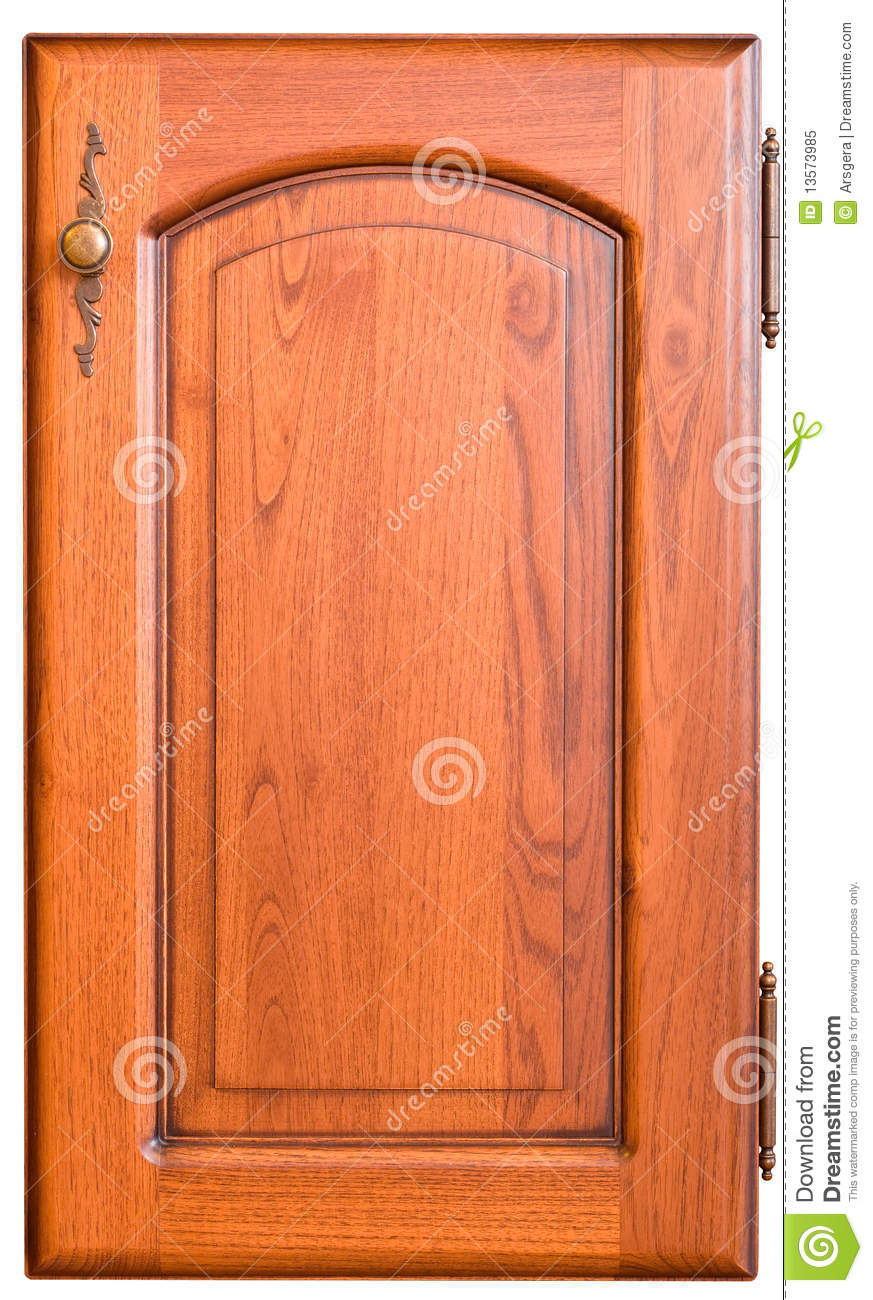 Wooden Furniture Door With Handle Royalty Free Stock Photo - Image ...