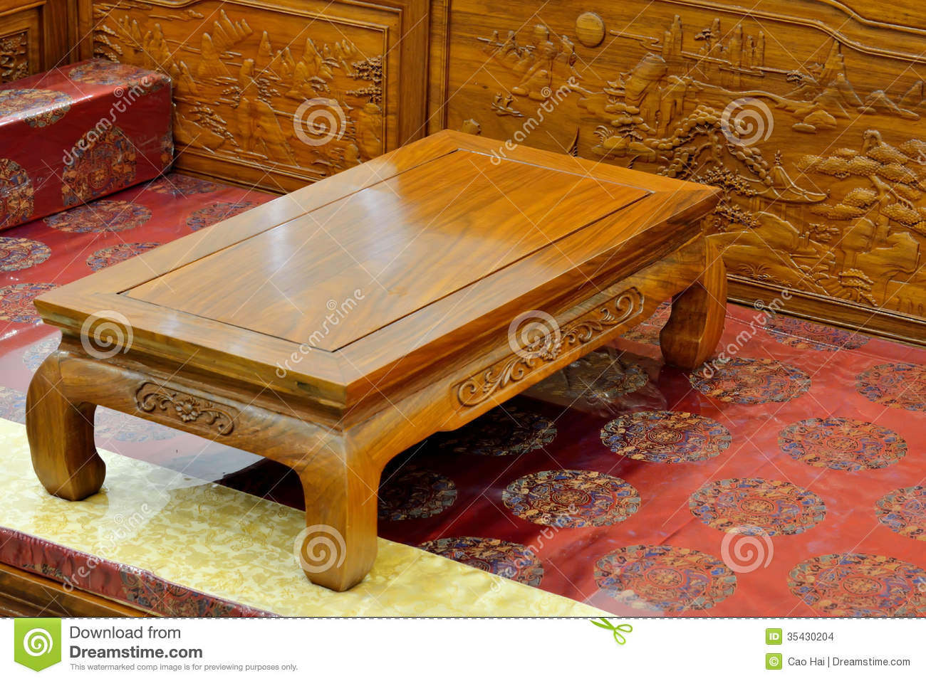 Wooden Furniture In Oriental Style Stock Images Image 35430204