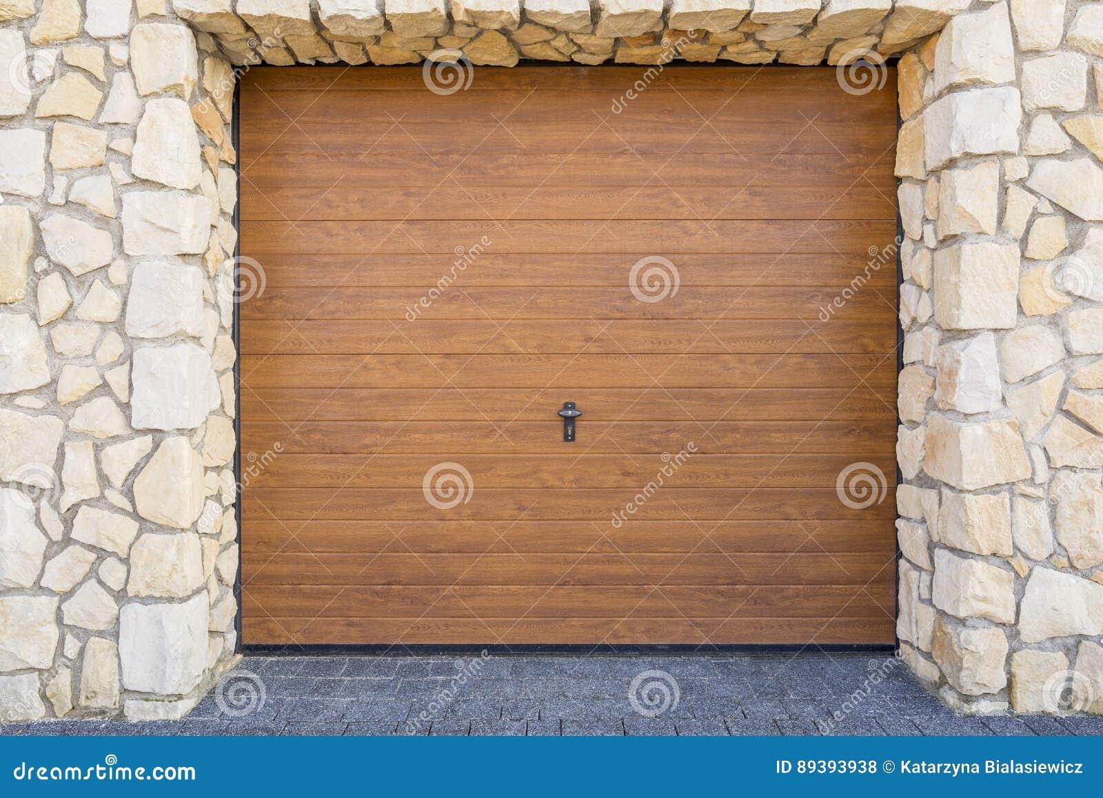 Wooden Garage Door Stock Photo Image Of Port Garage 89393938