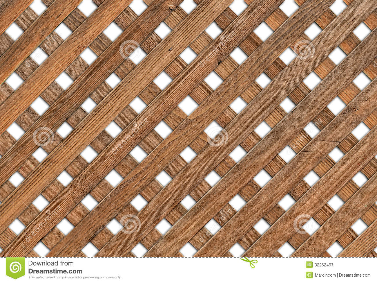 Wooden Garden Grid White Background Stock Image Image