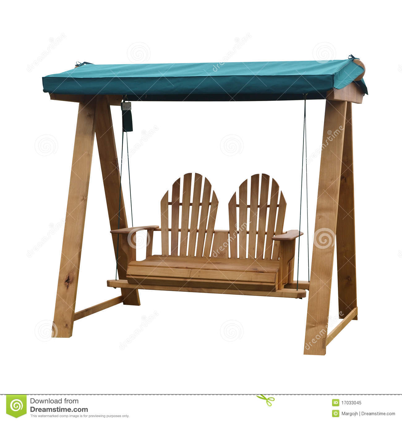 Wooden Garden Swing Seat. Isolated With Clipping Path Royalty Free Stock  Photo