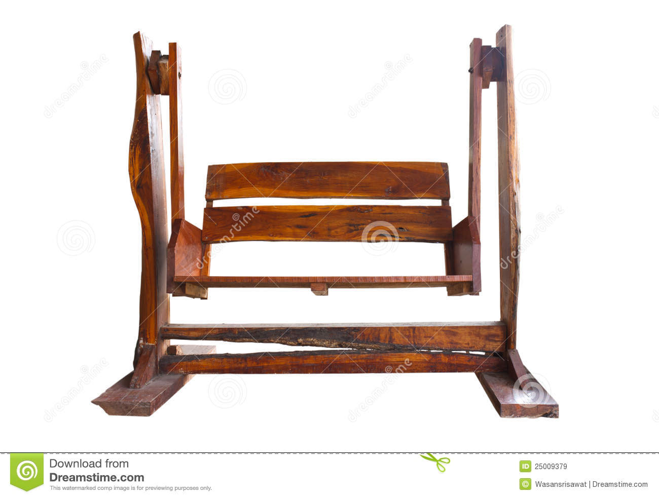 Wooden Garden Swing Seat stock image. Image of empty ...
