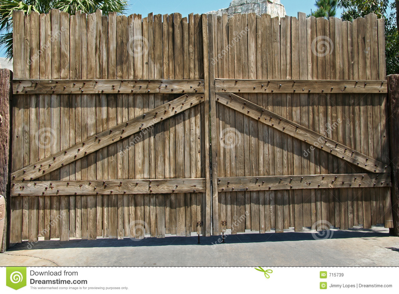Wooden Gate Stock Image Image Of Sesame Door Wooden