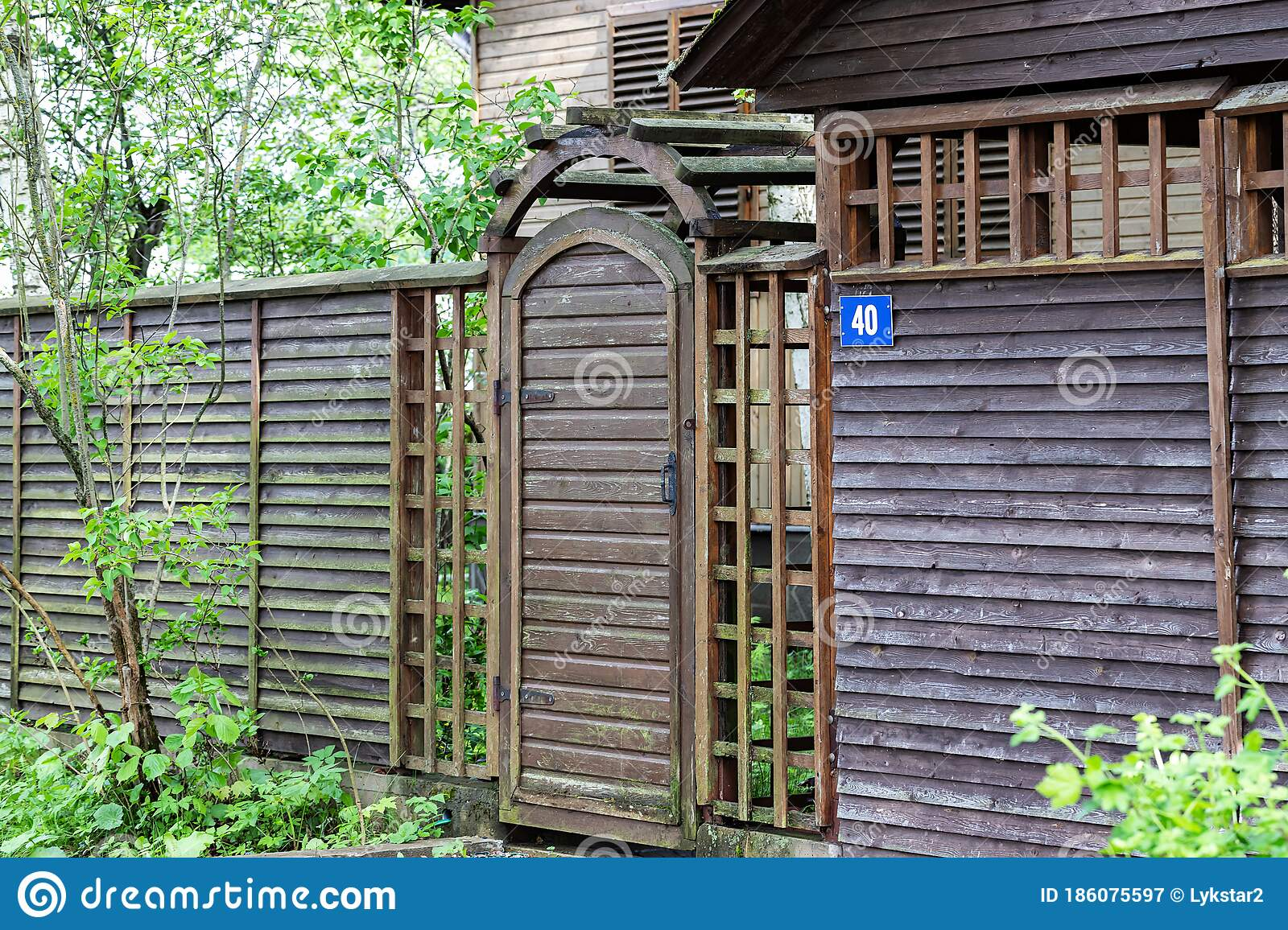 Picture of: Wooden Gate Wicket And Fence To The Front Yard Editorial Photography Image Of Property Fence 186075597