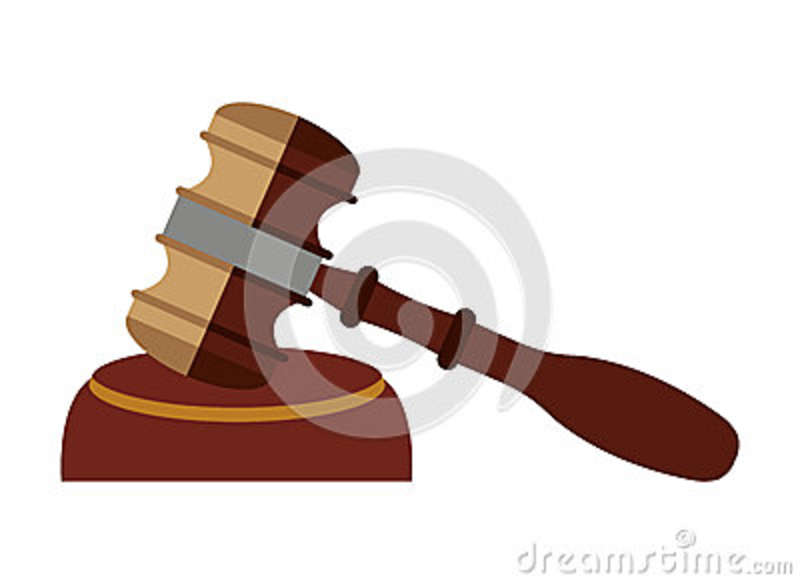 Wooden Gavel Isolated Icon Design Stock Illustration Illustration