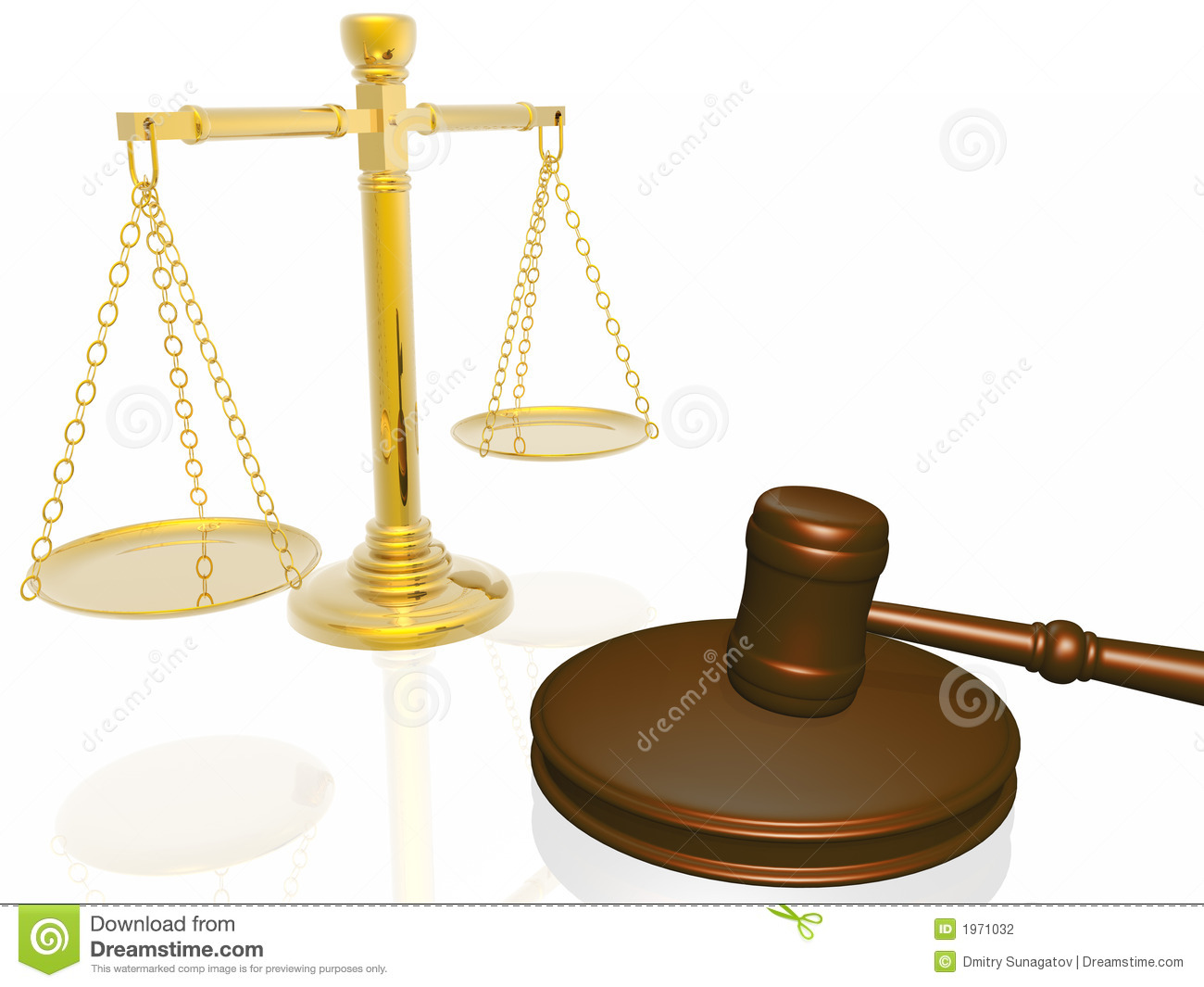 Wooden Gavel And Scales From The Court Stock Photography ...
