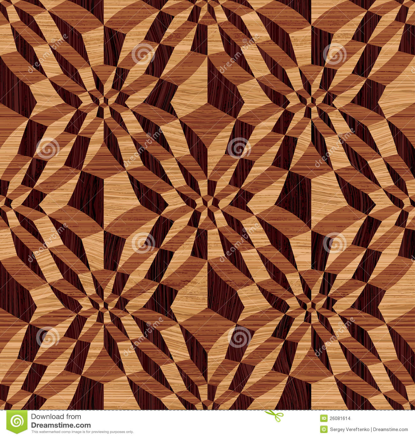 Wooden Geometric Pattern Stock Vector Illustration Of