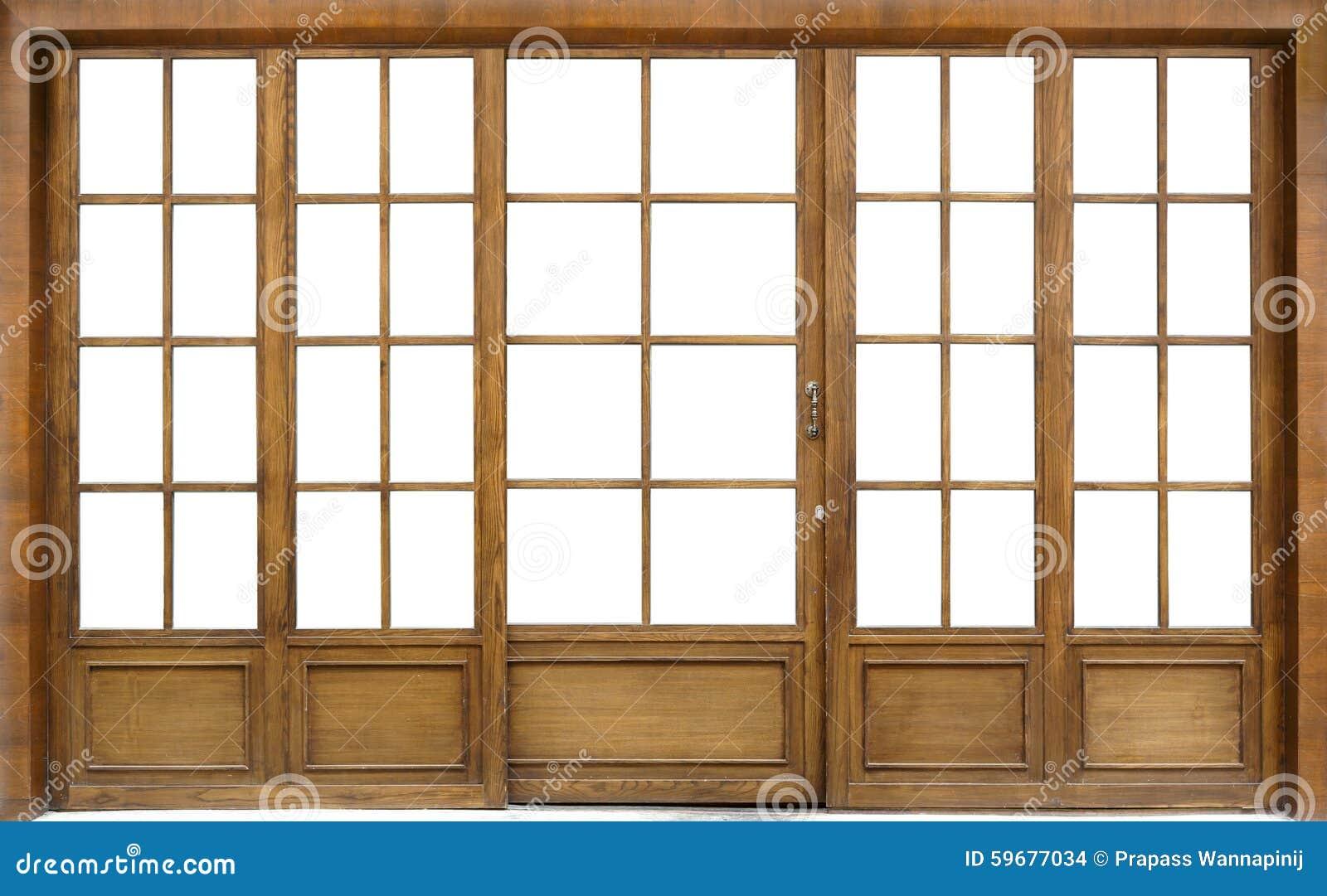 Wooden Glass Door Stock Photo Image Of Sliding