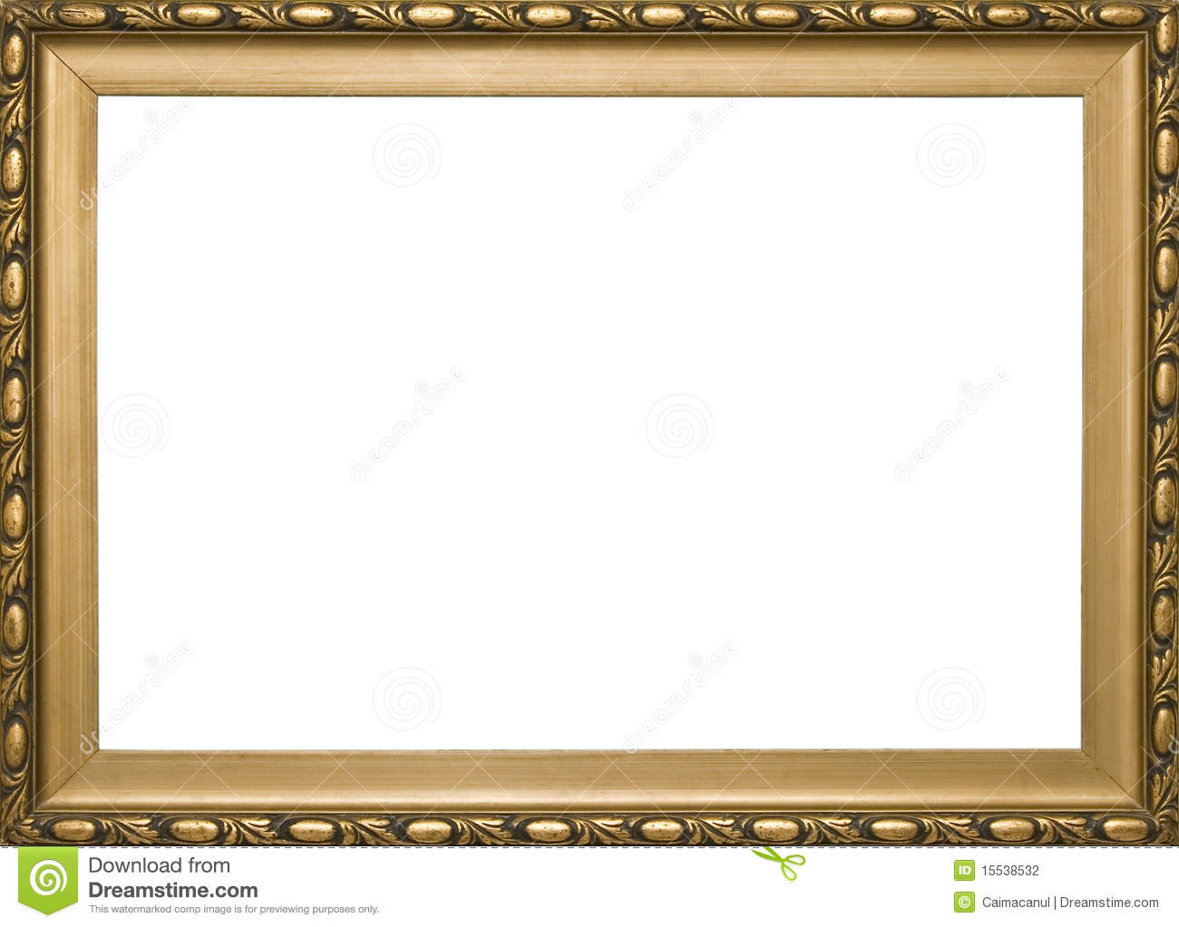 Wooden Golden Classic Frame Stock Photography Image
