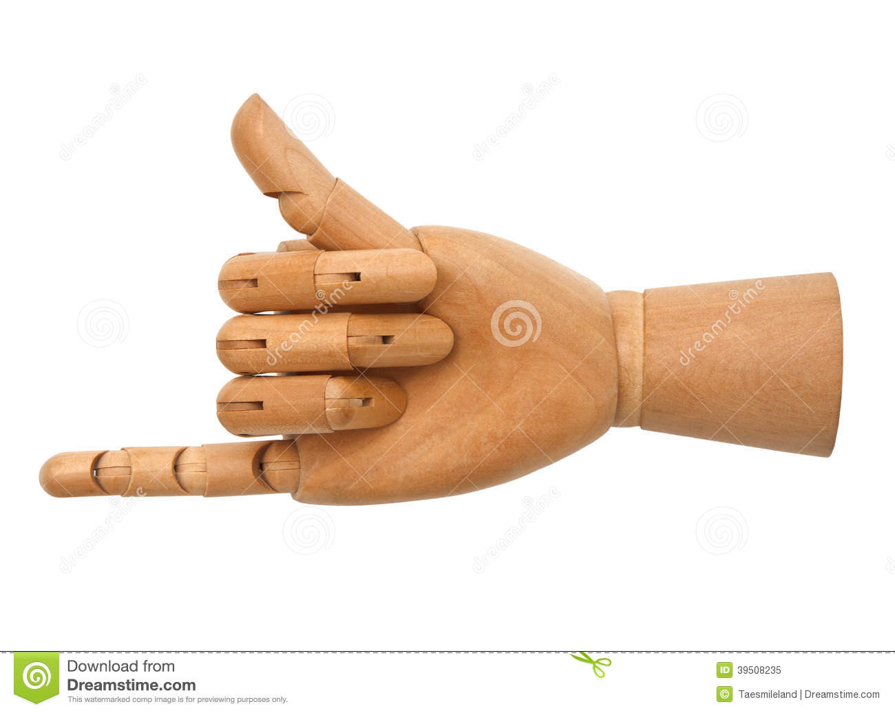 Wooden hand isolated