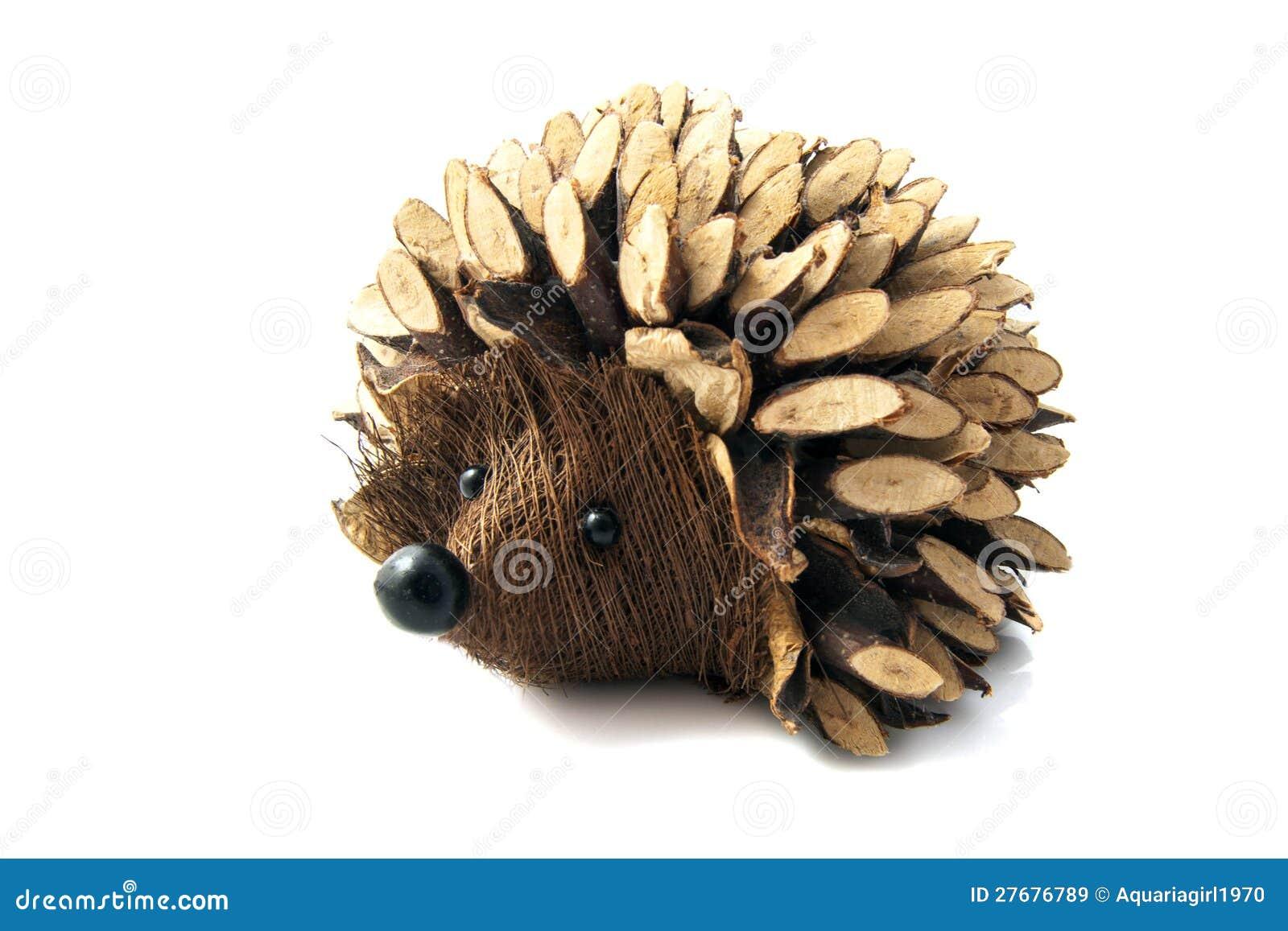 Wooden Handmade Hedgehog Royalty Free Stock Images - Image: 27676789