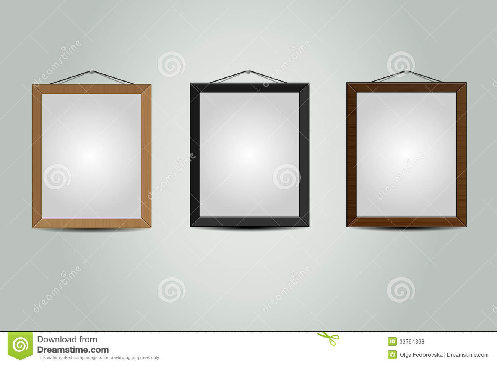 wooden hanging frames royalty free stock photos image. Black Bedroom Furniture Sets. Home Design Ideas