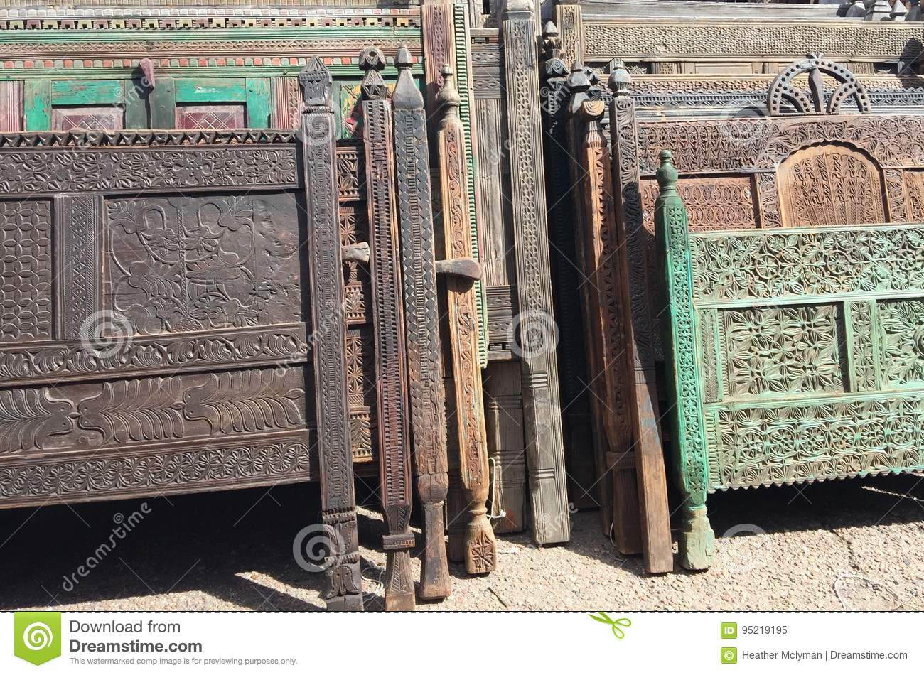 Wooden Headboards Stock Image Image Of Antique Decorative 95219195