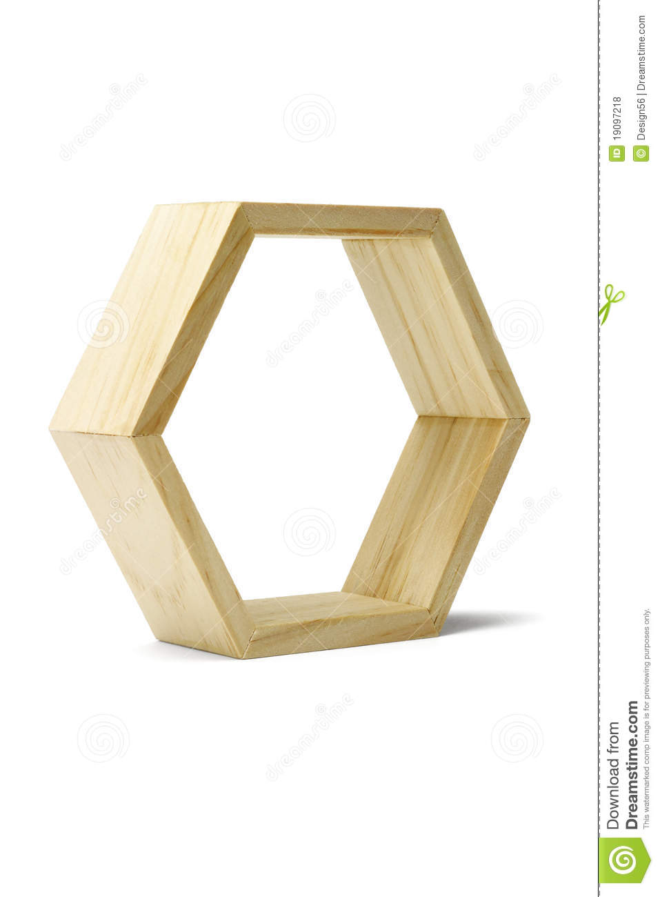 Wooden Hexagonal Ring Royalty Free Stock Photos - Image: 19097218