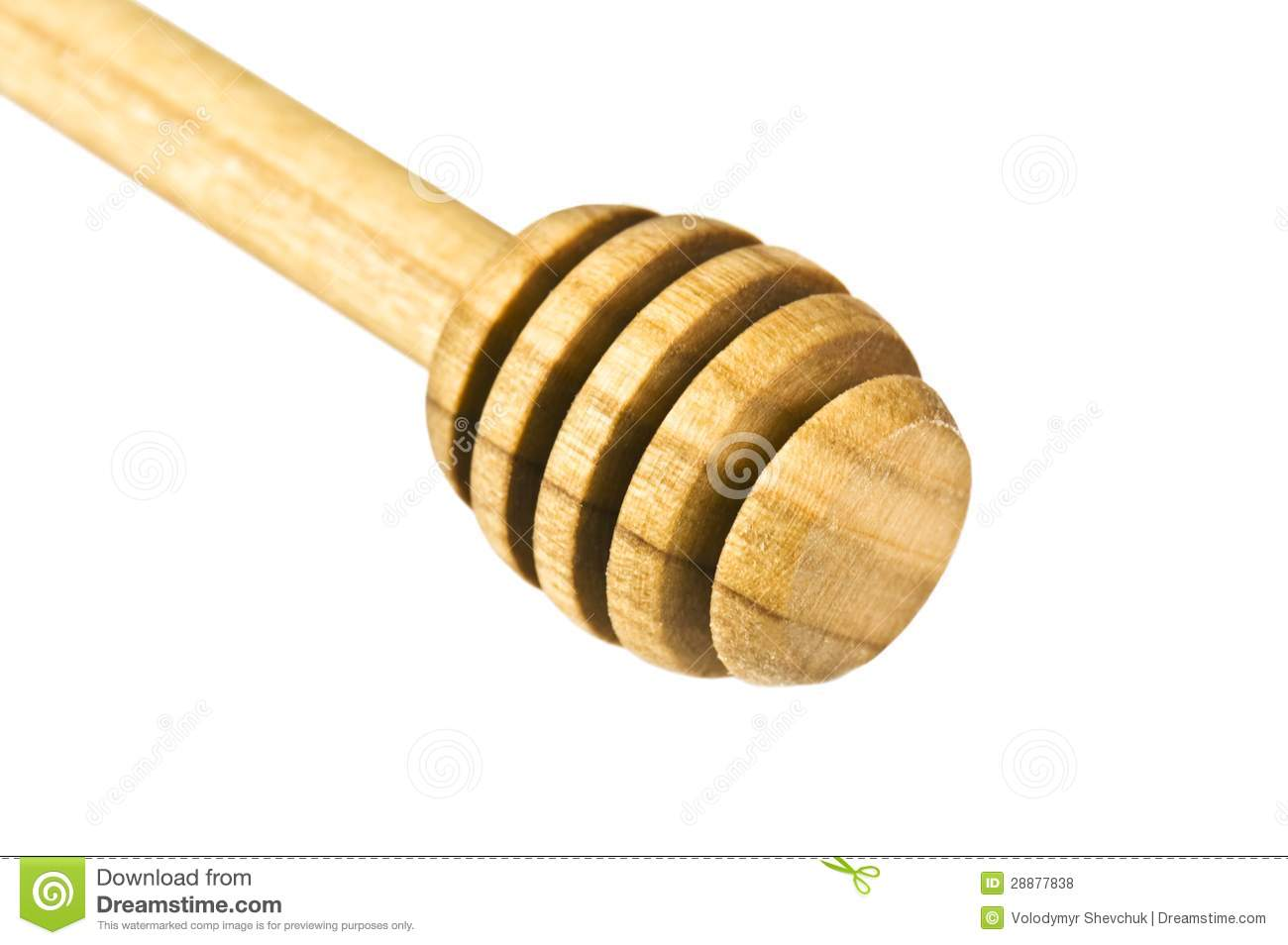 Wooden Honey Stick Royalty Free Stock Photos - Image: 28877838