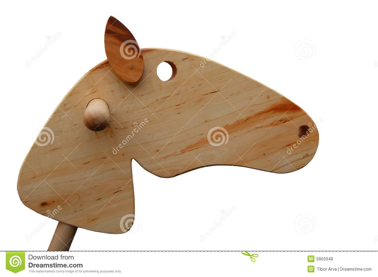 Wooden Horse Head Royalty Free Stock Photos - Image: 5903348