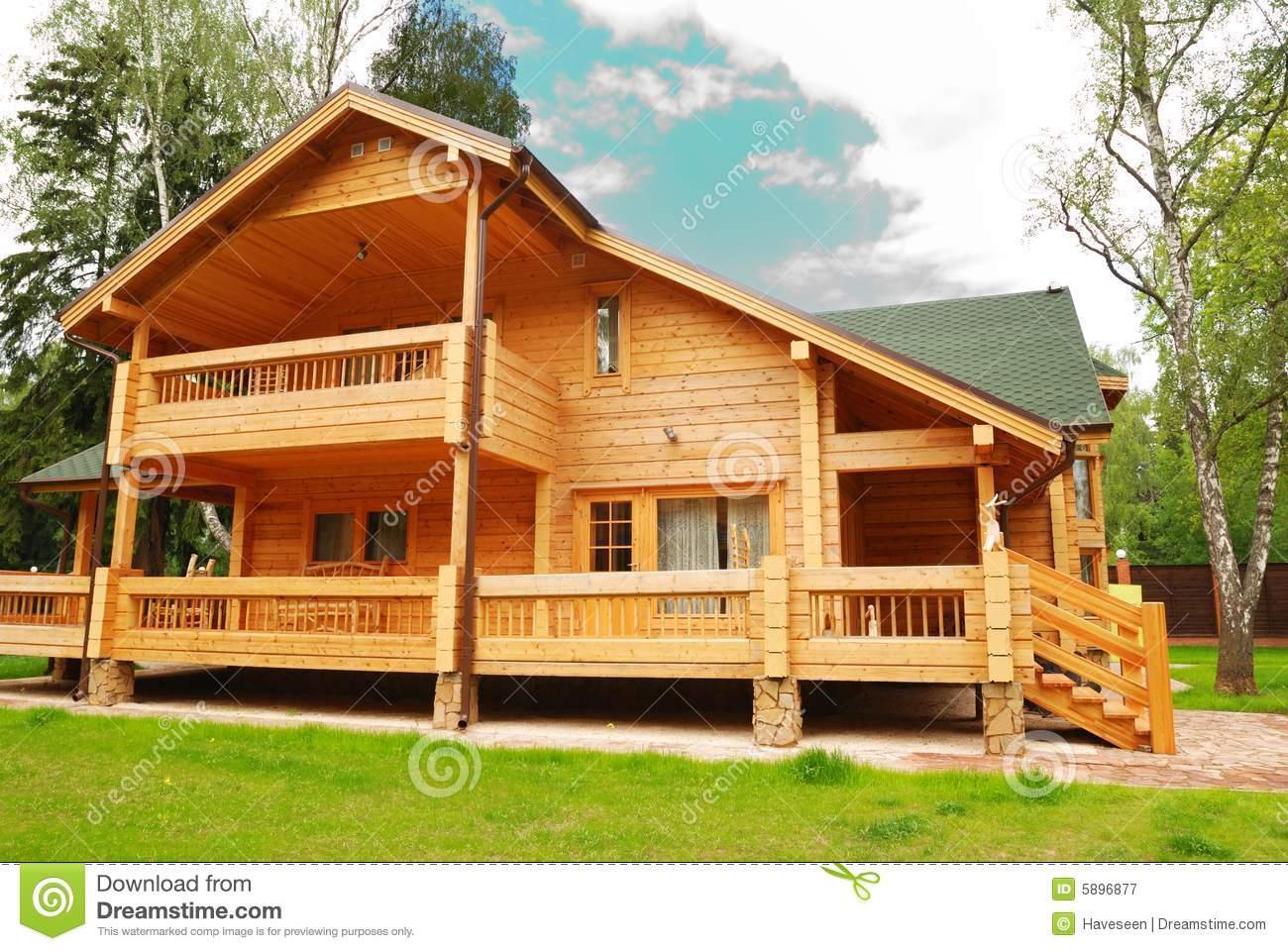 Wooden house stock image image of residential outdoors for Dream wooden house