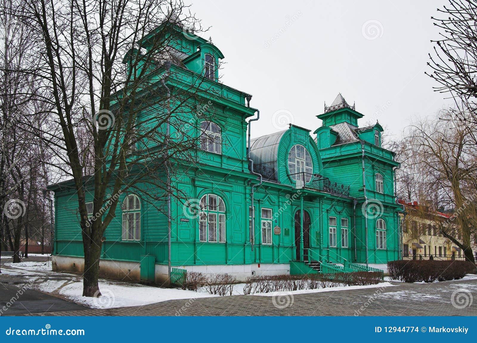 wooden house art nouveau style bobruisk 12944774
