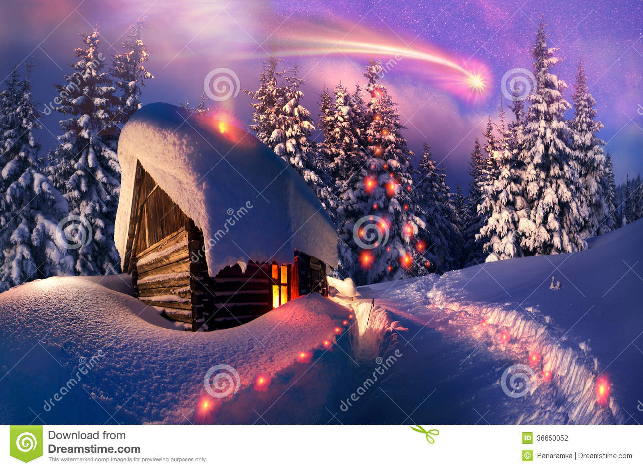Wooden House As Santa Claus Stock Photography Image