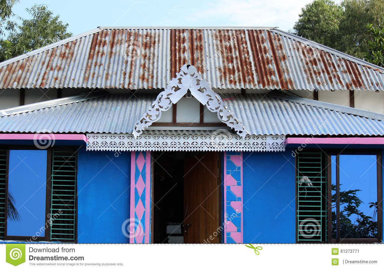 Wooden house in bangladesh stock image image of shed for Bangladeshi building design
