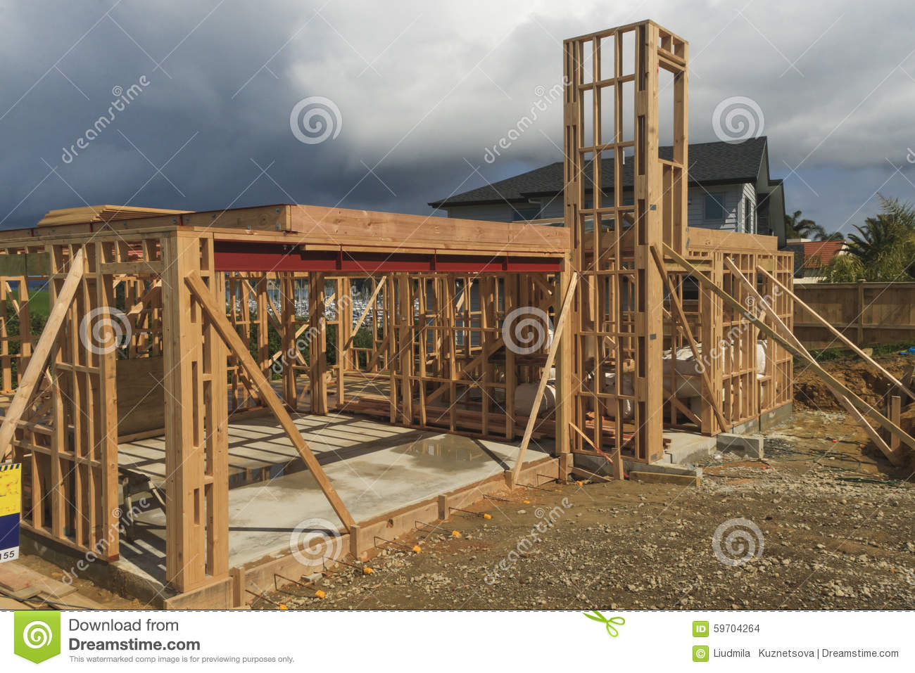 Wooden House Construction Building Homes In New Zealand