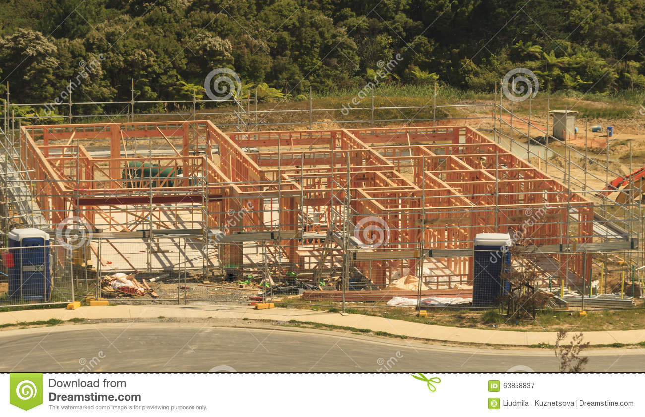 Construction Of The New Building Stock Image ...