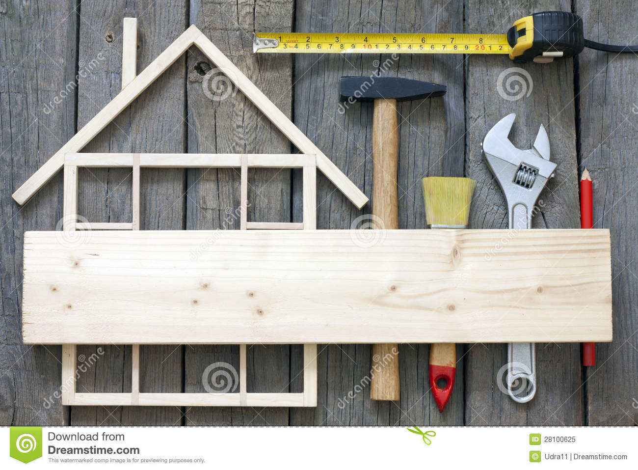 Wooden house construction renovation stock image image for Free home builder