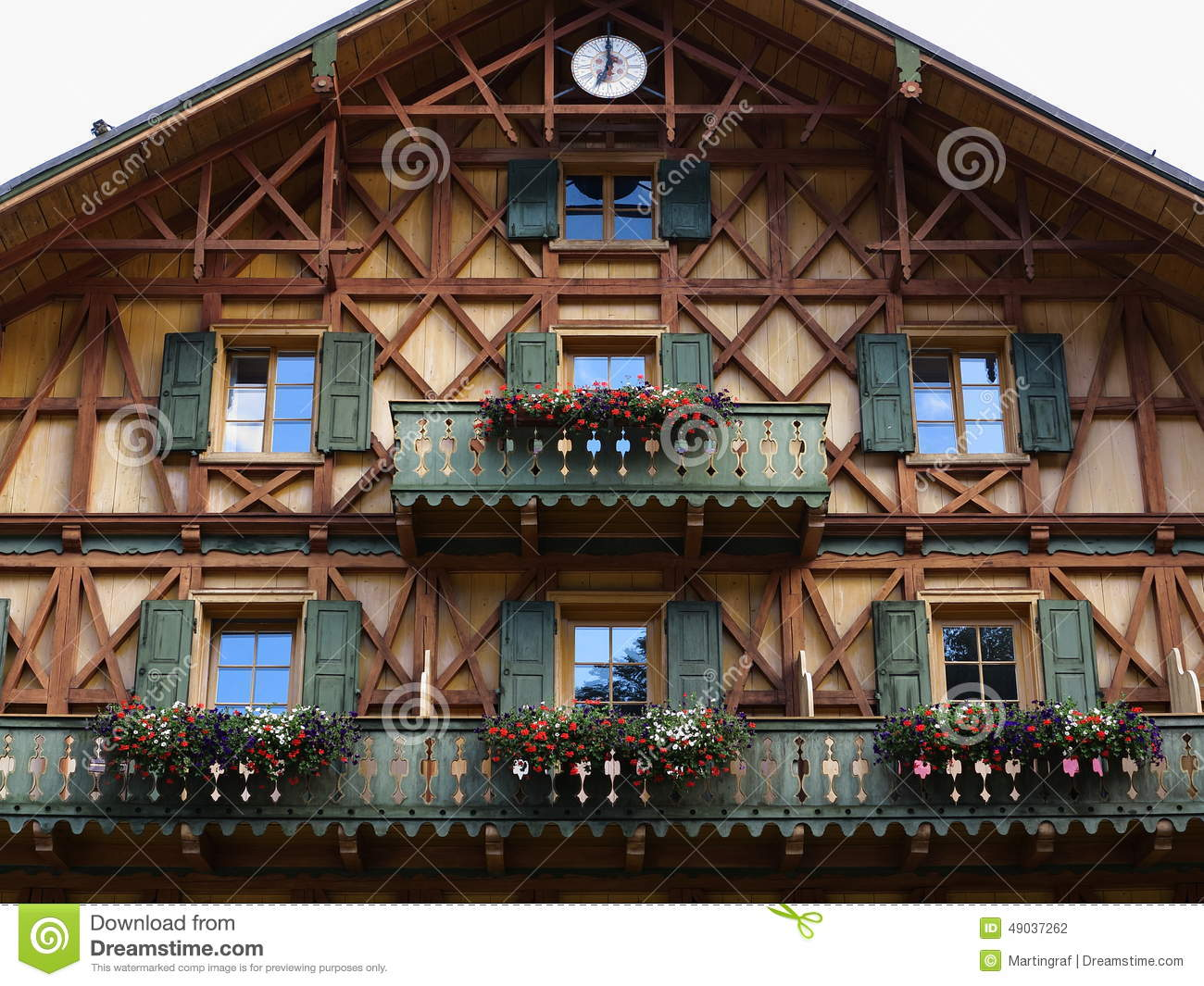 Wooden house facade country style stock photo image of for Style hotel