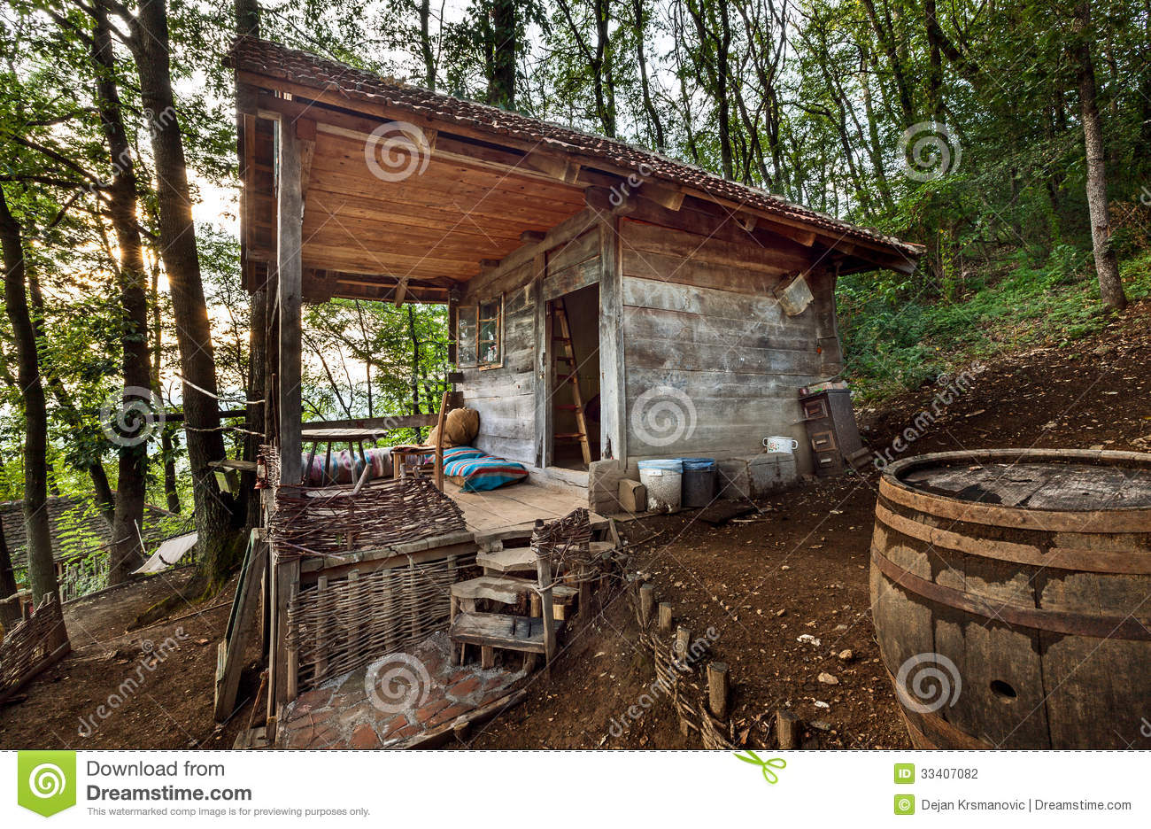 Wooden house stock photography image 33407082 - Houses made from natural materials ...