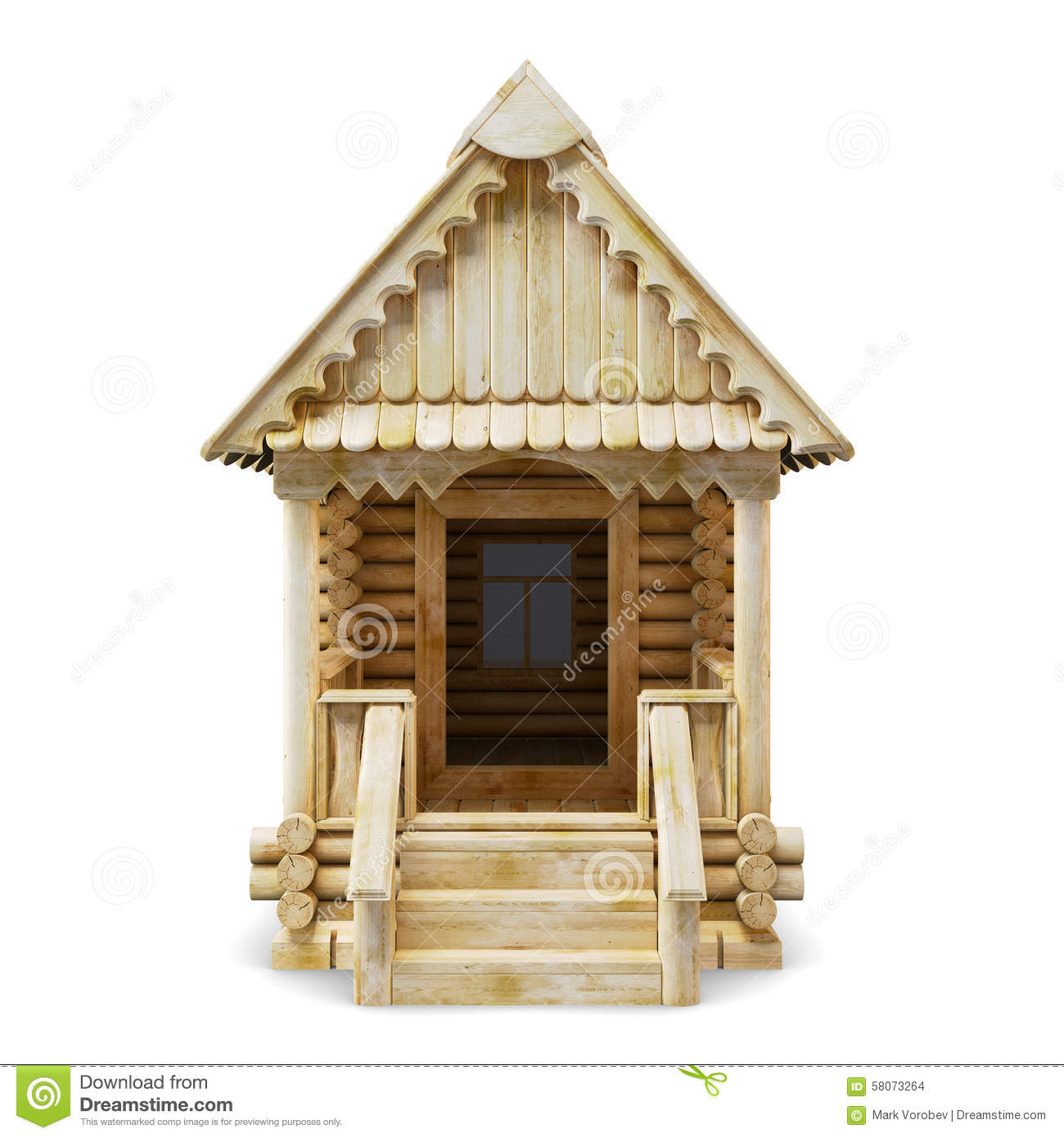 Wooden house front view stock illustration illustration for Exterior view of house