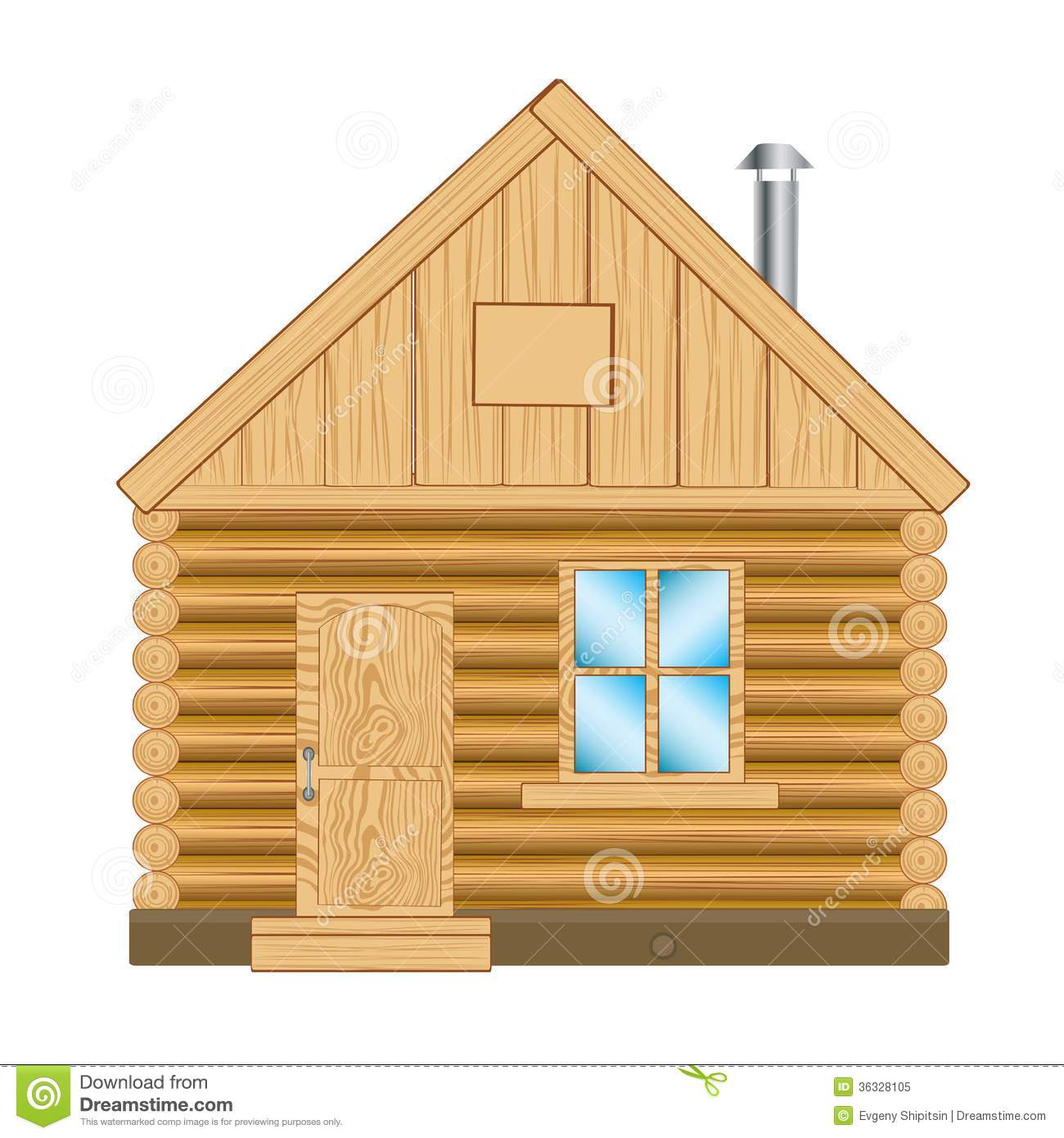 Wooden House Stock Vector. Illustration Of Camp, Estate